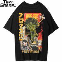 hip hop japonês venda por atacado-2019 Homens Hip Hop T Camisa Japonesa Harajuku Monstro Dos Desenhos Animados T-Shirt Streetwear Verão Tops Tees Algodão Camiseta Hiphop Desproporcionado
