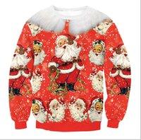 suéteres de navidad de la vendimia de los hombres al por mayor-Árbol de Navidad de la llegada de Papá Noel retro suéter feo suéteres de Navidad del reno Hombres Mujeres Suéteres suéter de la vendimia blusas blusa