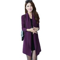 hemdkragen strickjacke groihandel-Schal-Kragen-beiläufige lose koreanische Strickjacke Jacke Female 2019 Frühling-neue Knit-Schal Hemd Korean Hohl Long Cardigan Coat F491