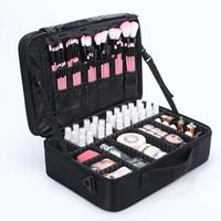 gold machen fall großhandel-Reise-Make-upbeutel-Fachmann bilden Kasten-Kosmetik-Beutel-Beutel-Schönheits-Kasten für Make-upfrauen-Art- und Weisekosmetiktasche