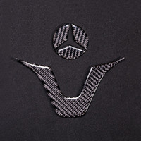 lenkrad abzeichen embleme großhandel-Car Styling Carbon Interieur Aufkleber AMG Abzeichen Lenkrad Emblem Aufkleber Aufkleber Für Mercedes C Klasse W204 W205 W211 W203 GLA