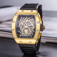 Wholesale large blue clock for sale - Group buy Men s fashion Large dial Quartz Watches Luxury Men s functional quartz Rhinestone Diamond inlay Clock dial Quartz Watches