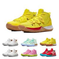 sapatos de lótus venda por atacado-2019 New Sponge Bob x Kyrie 5 Patrick Lotus Rosa Squidward Womens Mens tênis de basquete Irving 5 Sport CJ6951-700 Designer Sneakers Eur36-46