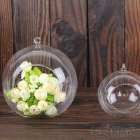 ingrosso paesaggio matrimonio-12pcs Terrarium Ball Globe Shape Clear Hanging Vaso di vetro Piante da fiore Terrario Contenitore Micro Paesaggio Wedding Home Decor