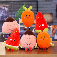 Wholesale stuffed fruit doll for sale - Group buy Plush Doll Fruit Plush Toys Design Stuffed Doll Toys Watermelon Carrot Strawberry Plush doll Best Gifts For kids Toys