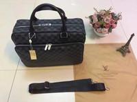 kahverengi deri çanta çantası toptan satış-Erkekler Omuz Evrak Çantası Siyah Kahverengi Deri Çanta Iş Erkek Laptop Çantası Messenger Çanta 3 Renk
