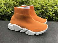 ingrosso le ragazze dei bambini calzino il formato-nuovo Ragazzi Ragazze Designer di lusso Calzino Paris Shoes Speed Runner Scarpe da corsa per bambini Scarpe da ginnastica per bambini Athletic Sport per bambini 25-35