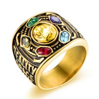 unendlichkeit klingelt großhandel-Marvel Avengers thanos Rings anhänger männer Infinity Gauntlet Power Ring Gauntlet bague homme anillos mujer Edelstahl Schmuck