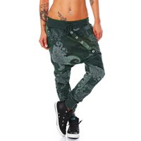 Wholesale womens baggy trousers for sale - Group buy 2019 Spring Female Low Waist Harem Pant Womens Fiber Octopus Printing Baggy Hip Hop Pant Streetwear Casual Pants Female Trousers