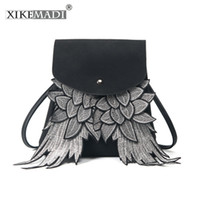 ingrosso ali di design-XIKEMADE fashion 2019 Girls Cute Backpack Donna Wing Design School Bag Ragazzi Daypack Borsa a tracolla Borsa Ladys con ali d'angelo