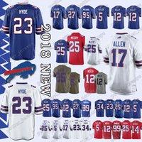 Buffalo Jerseys 49 Tremaine Edmunds Bills 17 Josh Allen 12 Jim Kelly 25 LeSean  McCoy 34 Thurman Thomas 95 Kyle Williams 23 Micah Hyde Jersey 898c543be