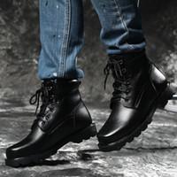 botas de nieve rusas al por mayor-Tamaño grande 38-46 Warm Fluff Winter Boots Hombres Estilo Ruso Hecho A Mano Confort Hombres Invierno Nieve Zapatos Moda Botines 7.9
