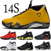 schlüpfen großhandel-2019 14 14s Herren Wüstensand Basketball Schuhe 23 Last Shot Indiglo DMP Thunder Reverse Ferr Gelb Blau Rot Weiß Designer Sneakers Trainer