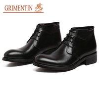ingrosso scarpe formali arancione-vendita all'ingrosso Stivali da uomo in pelle marrone chiaro Scarpe da lavoro da lavoro formale arancione Scarpe da lavoro di design in vera pelle di lusso