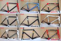 karbon çerçeve yol bisikleti 54cm toptan satış-2019 yeni Colnago C64 karbon Yol Çerçeve tam karbon bisiklet çerçeve T1100 UD karbon yol bisikleti çerçeve boyutu 48 cm 50 cm 52 cm 54 cm 56 cm