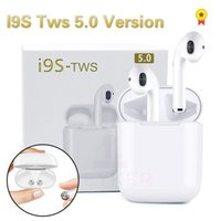 ingrosso orecchio senza fili del mini auricolari del bluetooth-Nuovi I9S 5.0 TWS Auricolari Bluetooth senza fili Mini Cuffie Ifans Musica stereo Auricolare In-Ear Air Pod per IPhone Android PC