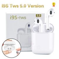 bluetooth kulaklık iphone müzik toptan satış-Yeni I9S 5.0 TWS Bluetooth Kablosuz Kulaklık Mini Kulaklık Ifans Stereo Müzik Kulak Hava Kulaklık IPhone Android PC Için Bakla ...