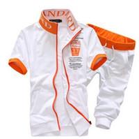 durmak toptan satış-2 adet yeni 2015 moda yaz Standı yaka kısa kollu Polo erkekler + pantolon Spor Erkek takım elbise erkek rahat camisa polo masculina HY25