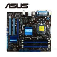intel asus anakart toptan satış-LGA 775 ASUS P5G41C-M LX Anakart 1066 MHz DDR2 DDR3 Intel G41 P5G41CM LX Masaüstü Anakart Için 8 GB SATA II Kullanılan