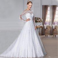 Wholesale modern western wedding dresses for sale - Group buy New Arrival Custom Made Wedding Gown vestidos de noiva Western Style Vintage Lace Wedding Dresses Professional custom