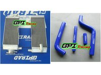 yamaha yz125 al por mayor-manguera de radiador de aluminio + para Yamaha YZ125 YZ 125 1996-2001 1997 1998 99 00 2001 1996 1997 1998 1999 2000 GPI alta por