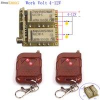 transmisor de 9v receptor al por mayor-2 canales de control inalámbrico Micro ON OFF 5V 9V 12V RF interruptor del transmisor receptor de relé NC Módulo 4V-12V NO COM + Contacto 433 / 315MHz