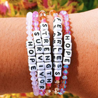 Wholesale Women Letter Beaded Bracelet Crystal Diy Handmade Bracelet for Gift Party Fashion Jewelry Accessories Epacket Shipping