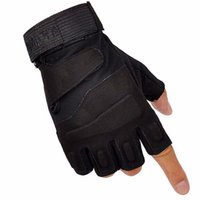Wholesale new tactical gloves resale online - Brand New Outdoor Winter Windproof Sports Fingerless Military Tactical Hunting Riding Gloves New