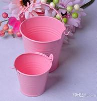 baldes mini baldes venda por atacado-12 cores de balde de bombons de chocolate mistura de lata baldes mini baldes favores do casamento caixa mini balde caixa de lata de presente de natal favor do partido suprimentos