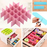Wholesale organizers for shoes for sale - Group buy Adjustable Plastic Drawer Divider Organizers For Shoe Underwear Socks Expandable Drawer Cabinet Board Divider Grid Household HH9
