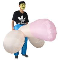 trajes de mascote para crianças venda por atacado-Fantasia Adulto Unicórnio Dinossauro Inflável Traje Willy Cowboy Sumo Anime Cosplay Mascote Traje de Halloween Para Mulheres Homens Kid Boy