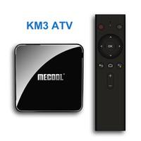 tv box complètement contrôlée achat en gros de-Google Certified KM3 ATV Android 9 Amlogic S905X2 Quadcore Suppot 4k 2.4G / 5G WIFI commande vocale Smart TV Box