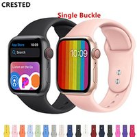 Wholesale watch band hidden clasp for sale - Group buy CRESTED Strap For Apple Watch band apple watch iwatch band mm mm correa mm mm pulseira Bracelet watch Accessories