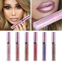 Wholesale lipsticks lime online - Mermaid Lipstick Shiny Diamond Lip Gloss Gold Charming Glitter Lime Liquid Lipstick Flash Powder Metallic Lipgloss