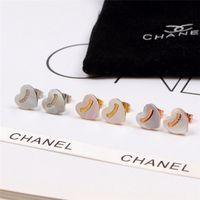 beliebte schmuckdesigner großhandel-Frauen Herz Brief Ohrringe Modedesigner Shinning Mädchen Ohrstecker Weibliche Beliebte Besonderes Geschenk Charme Ohrstecker Schmuck