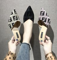 zapatillas gastadas al por mayor-letra F Baotou, sandalias, zapatos de mujer, con medio puntiagudo, tacones altos, sandalias, zapatillas de verano LJJK1659