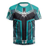 kaptan kostümleri toptan satış-3D Baskılı Kaptan Marvel Cospaly Carol Danvers MS Marvel Kostümleri Tişörtü Eşofman Rahat kapüşonlu Ceket Giyim Hoodies fermuar DHL