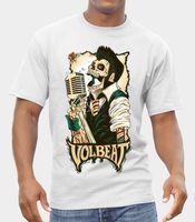 bantlı tezgahlar toptan satış-VOLBEAT BAND LOGO Kaya 'n' Rulo Metal T-SHIRT MEYDANA GELEN EPSON RETRO VINTAGE Klasik T-shirt