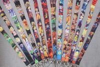 cintas z venda por atacado-Mixed Dos Desenhos Animados Anime DRAGÃO BOLA Z Super Saiyajin Saiyan Super Goku Gohan Vegeta Brinquedo CHAVES cartão de IDENTIFICAÇÃO Cordão No Pescoço cintas Shiip Livre