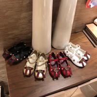 leder-müßiggänger kleinkinder großhandel-Kinder Laufschuhe Chaussures Enfant Leder kleine Mokassins weiche Schuhe Kleinkind Schuhe für Baby Kinder Turnschuhe Müßiggänger