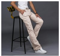 Discount jeans fashion trends 2019 Fashion Casual Mens Flared Jeans Summer Comfortable Denim Pants Trend Wild Youthful Jeans