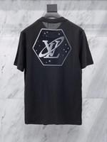 europäische männer t-shirt größen großhandel-2019SS angel Neues europäisches und amerikanisches Herrenbaumwoll-Planet Sternenhimmel US SIZE T-Shirt, kurzärmeliges Herren-T-Shirt für Männer KOSTENLOSER VERSAND 198