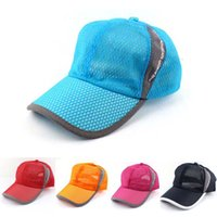 Wholesale trucker accessories for sale - Group buy Unisex Breathable Quick Dry Mesh Baseball Cap Solid Sun Hat Men Women Summer Snapback Bone Masculino Trucker Cap Accessories