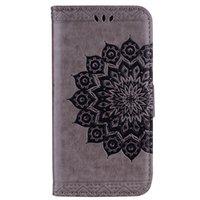 carteira redmi note venda por atacado-Bling Bling Estilo Datura Flor Padrão Flip PU Leather Wallet Case Para Xiaomi Redmi Note 4