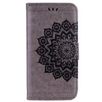 Wholesale bling style wallets for sale - Group buy Bling Bling Style Datura Flower Pattern Flip PU Leather Wallet Case for Xiaomi Redmi Note