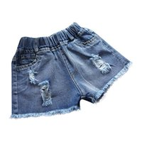 jeans enfants filles pour l'été achat en gros de-Bébé shorts jeans Hot design été coton shorts enfants shorts denim pour les filles vêtements pour garçons vêtements fille vêtements C21