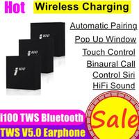 chip para teléfonos al por mayor-i100 TWS inalámbricas Bluetooth 5.0 auriculares auriculares auriculares de carga Auricular Pop Up auriculares para el teléfono Xiaomi H1 W1 de la viruta