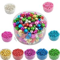 Wholesale candles black color resale online - 6MM Loose Beads Small Jingle Bells Christmas Decoration Gift Colorful Mix Color ly