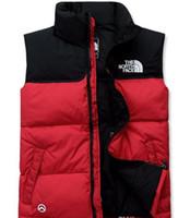 теплые походные куртки оптовых-Высокое качество зима мужчины вниз толстовки север куртки кемпинг ветрозащитный лыжный теплый вниз пальто открытый повседневная с капюшоном спортивная одежда лицо жилет