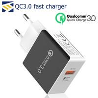 5v 3a usb güç adaptörü toptan satış-QC 3.0 Hızlı Duvar Şarj USB Hızlı Şarj 5 V 3A 9 V 2A Seyahat Güç Duvar Adaptörü Hızlı Şarj ABD AB Tak Adaptörü Samsung apple iPhone için